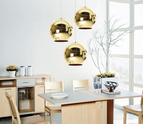 Lampa Nordic One Kula Zlota 25 Cm Industrial Loft Typu Dixon