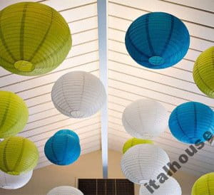 Papierowy Klosz Abażur Lampion 40cm Kabel Italhouse Pl